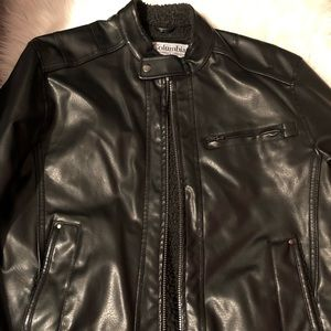COLUMBIA MEN LEATHER JACKET